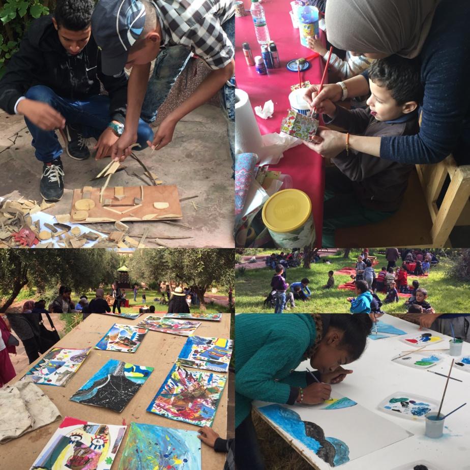 Atelier de recyclage pour enfants et convivialité