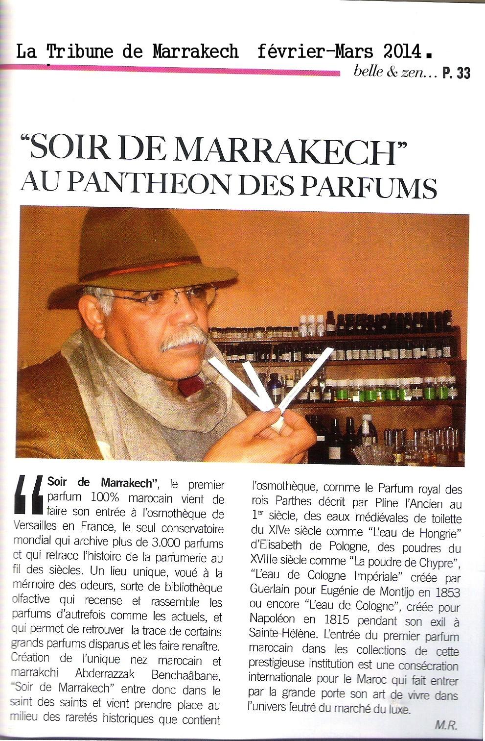 """""""Soir de Marrakech"""" au pantheon des parfums"""