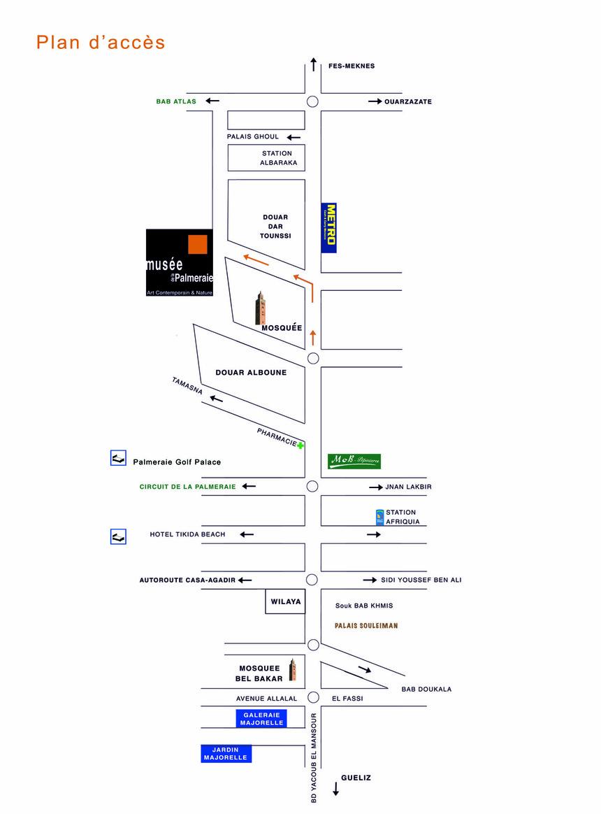 Le plan d'accés
